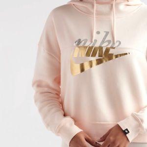 Pink Nike Crop Hoodie - NWT